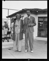 Dolly Harrison and Fred Ingram at the Palm Springs Racquet Club, Palm Springs, 1935