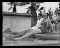 Mr. George Beckley and Mrs. Helen Beckley at the pool, Palm Springs, 1935