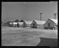 Tents that make up the school at 61st and Figueroa streets, Los Angeles County, 1935
