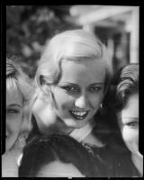 Actress Betty Andre with three other unidentified girls (copy photograph), Los Angeles, 1935