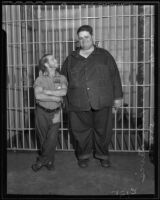 Peter Davis and James Hanley incarcerated at Lincoln Heights Jail, Los Angeles, 1935