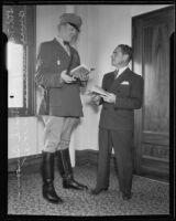 Traffic officer Mark Benson and Bruce Murchison, Los Angeles, 1935