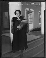Radio singer and voice instructor Charlotte Woodruff, Los Angeles, 1935