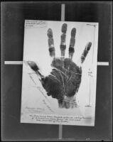 Handprint of William Dieterle, 1935
