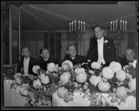 Testimonial dinner for Rabbi Magnin, Los Angeles, 1935