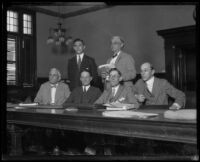 Thomas Hennessey and Harry D. Hibbs embezzlement trial, Los Angeles, 1925
