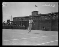 Neil Brown plays at the Los Angeles Tennis Club, Los Angeles, ca. 1927