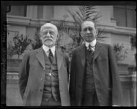 Dr. James B. Herrick and Dr. Stuart McGuire at a California Medical Association session, Los Angeles, 1927