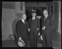 Mark L. Herron and Gavin Craig during the Italo bribery trial, Los Angeles, 1934