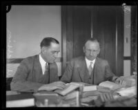 District Attorney Jess Hession and Judge William M. Dehy, Inyo County, 1924