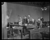William Edward Hickman receives death sentence, Los Angeles, 1928
