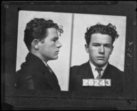 Mugshot of William Edward Hickman, Los Angeles, 1927
