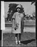 Marion Parker, kidnapped and murdered by William Hickman, Los Angeles, photo circa 1925