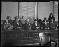 Jury of William Edward Hickman in the courtroom, Los Angeles, 1928