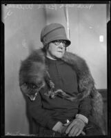 Mrs. Cora Belle Weeks, a possible spectator at the Hickman kidnapping trial, Los Angeles, ca. 1928