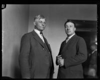Portrait of Oregon officers Thomas Gurdane and Buck Lieuallen, Los Angeles, 1928