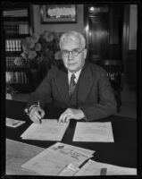 Portrait of J. R. Hitchcock of the Santa Fe Railroad, Los Angeles, 1932