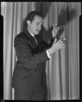 """Magician Charles """"Think a Drink"""" Hoffman, Hollywood (Los Angeles), 1935"""