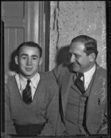Boxer Billy Hogan with manager Gus Wilson, 1932