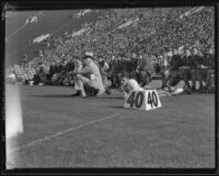 "Washington State Cougars coach ""Babe"" Hollingberry during a football match"