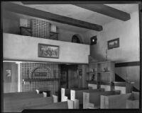 Interior of Hollywood Wedding Chapel at the home of Kathryn Baird Sullivan, Hollywood, circa 1931