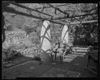 Exterior of Hollywood Wedding Chapel at the home of Kathryn Baird Sullivan, Hollywood, 1931