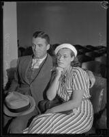 Eleanor Holm with husband Art Jarrett, 1933-1837