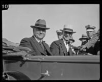 Secretary of State Herbert Hoover arrives in Southland, 1928