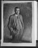 Sketch of Secretary of Commerce Herbert Hoover by Arthur Cahill, 1926