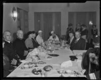 President and Mrs. Hoover, Admiral Sims and others at Tournament of Roses luncheon, Pasadena, 1934