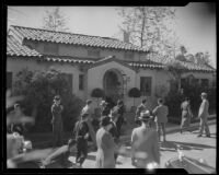 Crowd gathered to greet Herbert Hoover, Southern California, ca. 1928