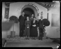 Herbert Hoover visits Southern California with family, ca. 1928
