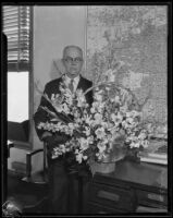 Portrait of county assessor Hopkins, Los Angeles, circa 1930-1938