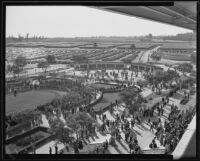 Spectators arriving at the Santa Anita Race Track, Arcadia, 1934-1939