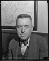 Portrait of C. H. Howell, county flood district Chief Engineer, Los Angeles, 1935