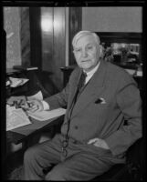 Portrait of ex-diplomat Dr. J. Morton Howell, Los Angeles, 1935