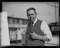 Portrait of Naval architect Frederick M. Hoyt, Los Angeles, 1929
