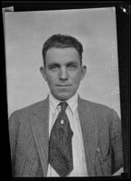 Portrait of police detective Warren S. Hudson, Los Angeles, [rephotographed, 1934]