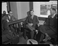 Frank Hugo on trial for double murder, Los Angeles, 1931