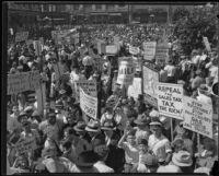 Hunger strike, Los Angeles, 1930