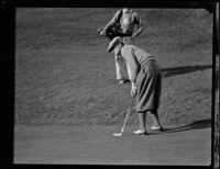 Professional golfer Willie Hunter, 1927