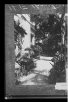 North entrance of the Henry E. Huntington residence, San Marino, 1927 copy print