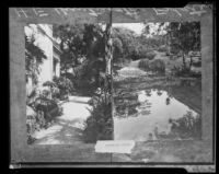Two views of the Henry E. Huntington residence, San Marino, 1927 copy print