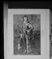 "Gainsborough's ""Blue Boy,"" at the Huntington Library, San Marino, copy print 1927"
