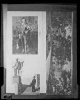 "View of Henry E. Huntington Residence, ""Blue Boy,"" and ""Apollo Belvedere,"" San Marino, 1927 copy print"