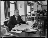 Milford M. Hurford, president of Federal Home Loan Bank, Los Angeles, 1934