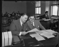 David Hutton and his lawyer, Benjamin Lewis, Los Angeles, 1933