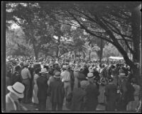 Thousands gather for annual Iowa Picnic at Bixby Park, Long Beach, 1934