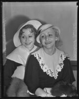 Dancers Mildred and Bavonne Irwin at lawsuit, Los Angeles, 1935