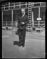 Gyles Isham upon arrival, Los Angeles, 1935